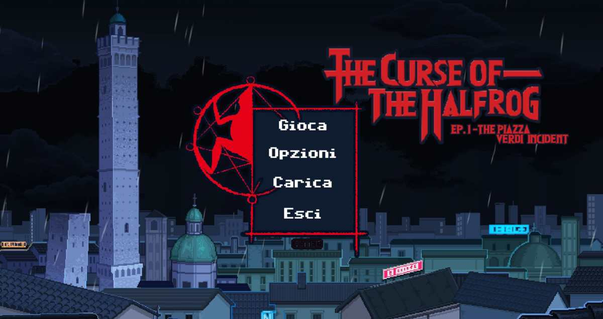the curse of the halfrog - screenshot menu principale