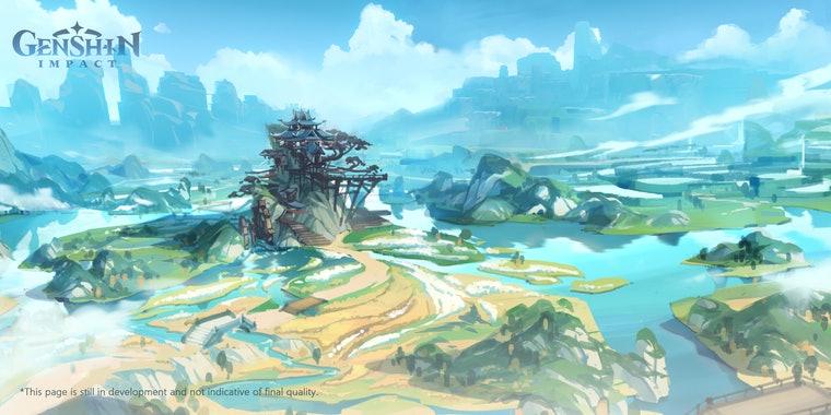 Concept art di Genshin Impact