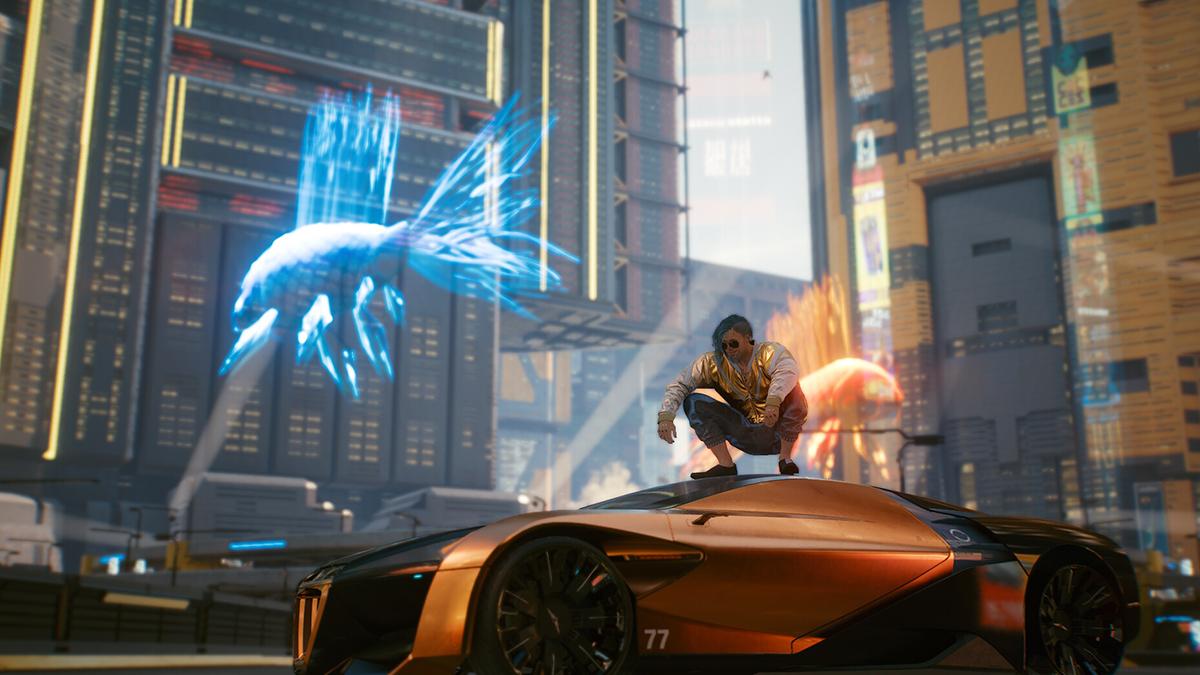 Auto sportiva di lusso in Cyberpunk 2077