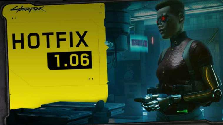 cyberpunk 2077 hotfix 1.06