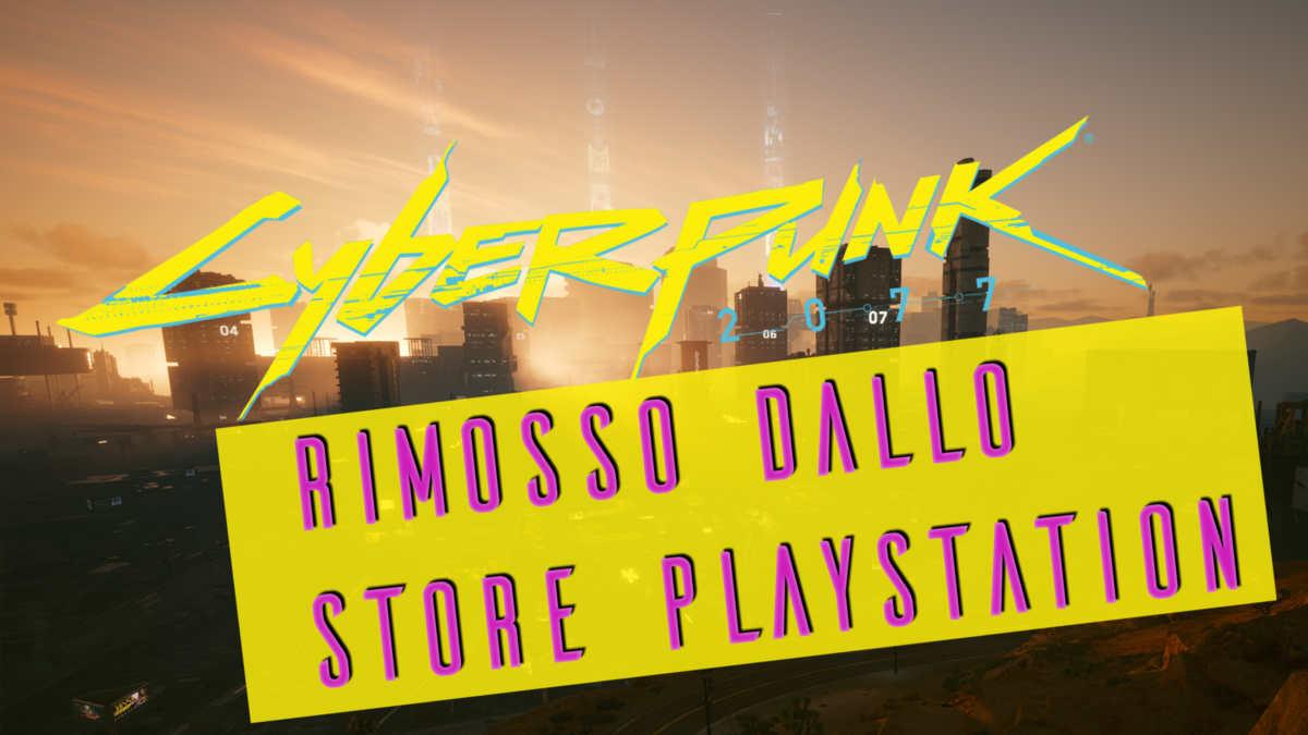cyberpunk 2077 rimosso dallo store playstation
