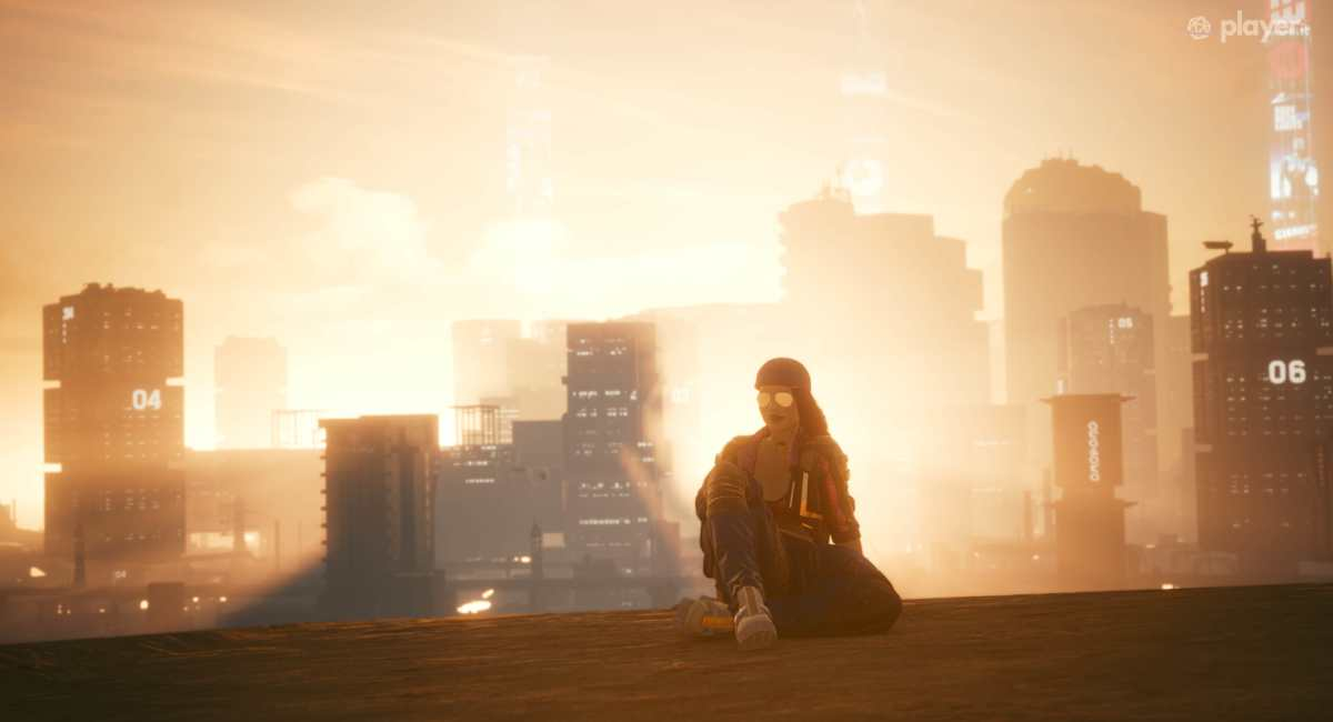 cyberpunk 2077 v al tramonto
