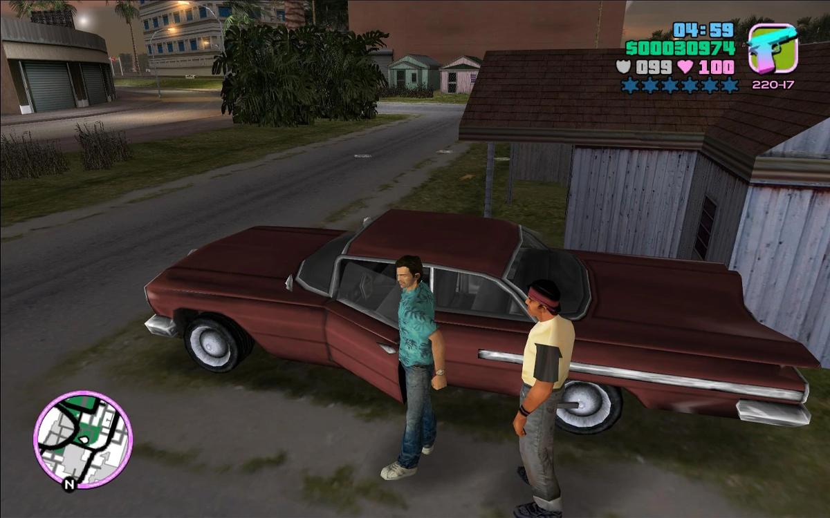 Furto d'auto a Little Haiti in GTA: Vice City