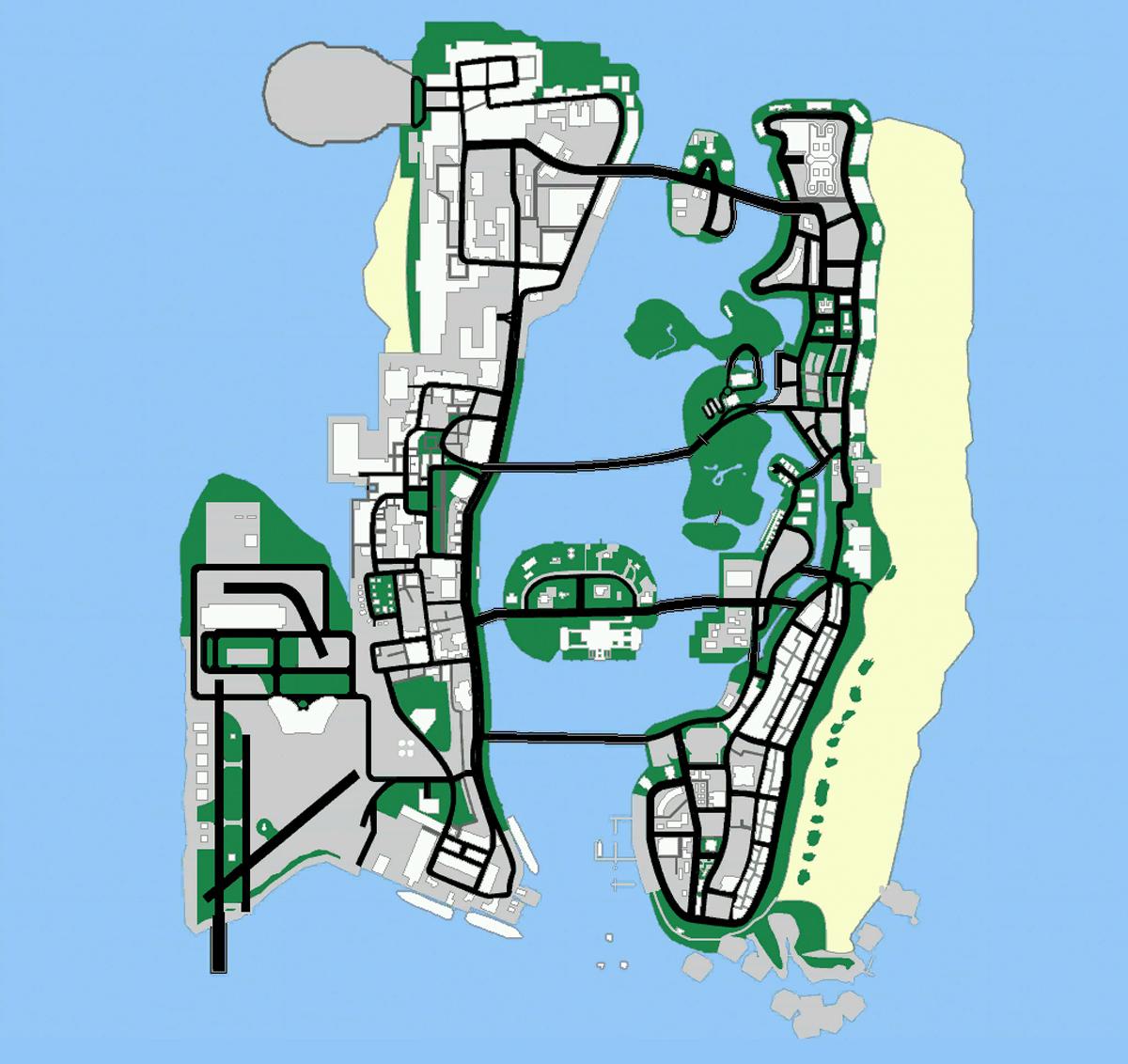 Mappa di GTA: Vice City