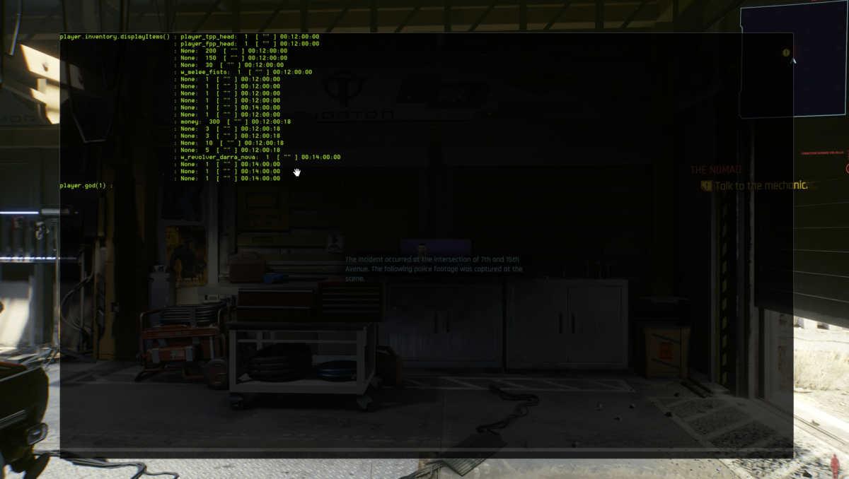 Mod per inserire i trucchi in cyberpunk 2077