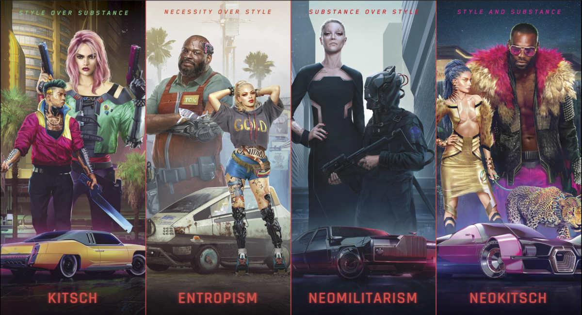 Lo stile di Cyberpunk 2077
