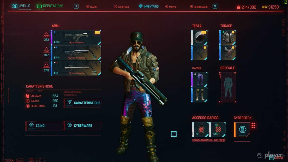 inventario cyberpunk 2077