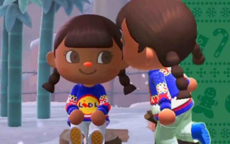 maglione LIDL in animal crossing