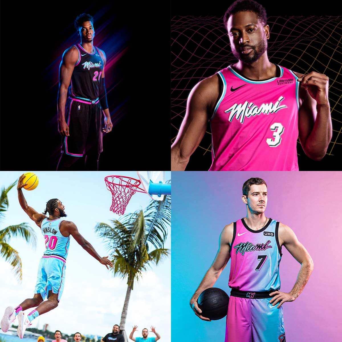 Divise vaporwave dei Miami Heat