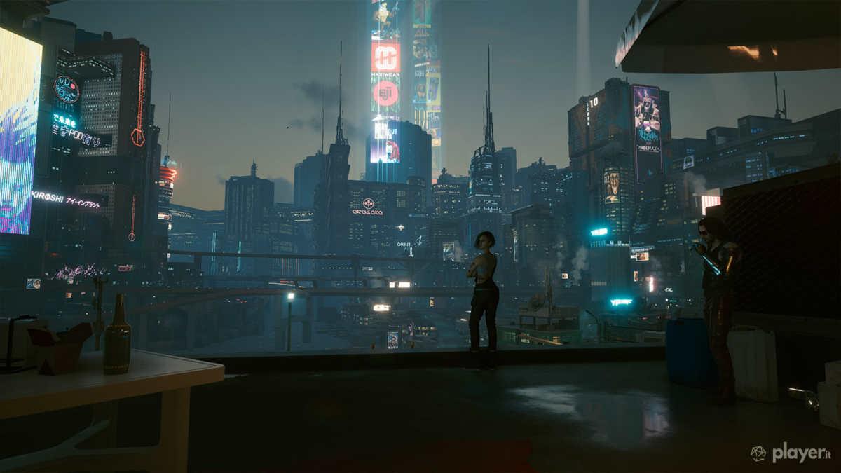 panorama night city