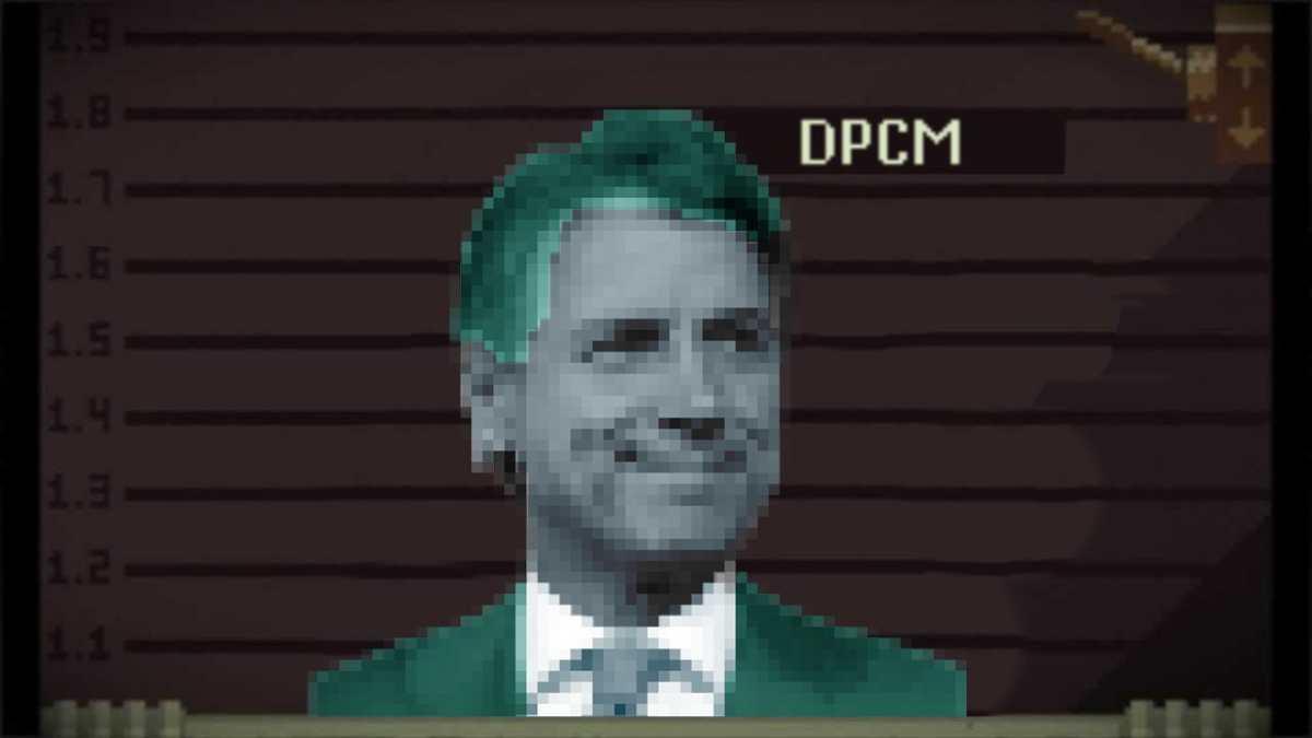Giuseppe Conte come personaggio di Papers, Please