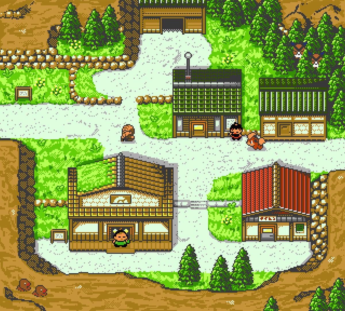 Città di Mogania in Pokémon Oro e Argento, ridisegnata da una fan artist