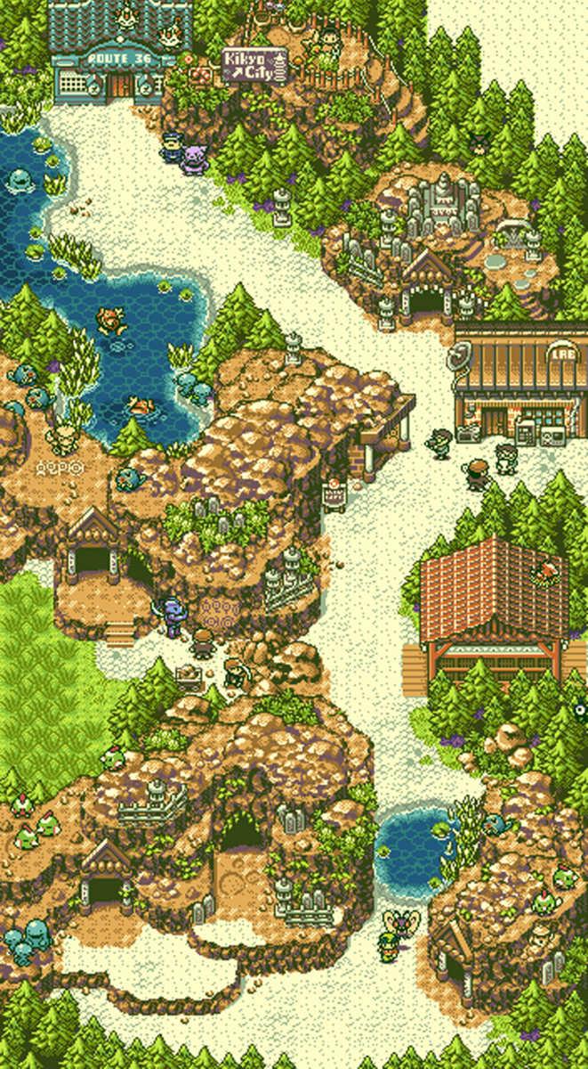 Rovine d'Alfa nella regione Pokémon di Johto