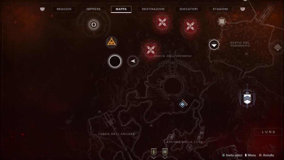 Posizione della quinta piuma per il Falco Lunare in Destiny 2