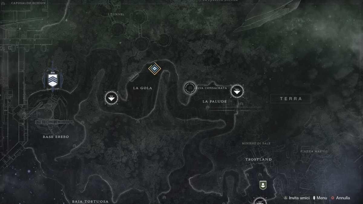 Posizione della seconda piuma per il Falco Lunare in Destiny 2