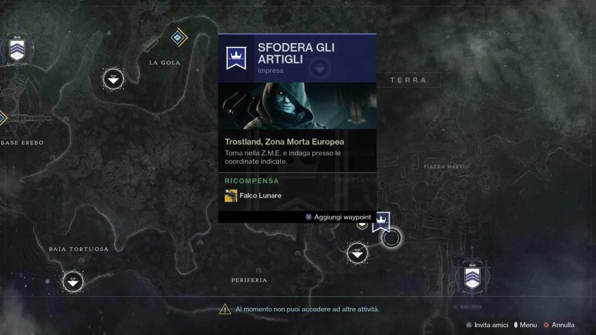Palude per l'Impresa del Falco Lunare in Destiny 2