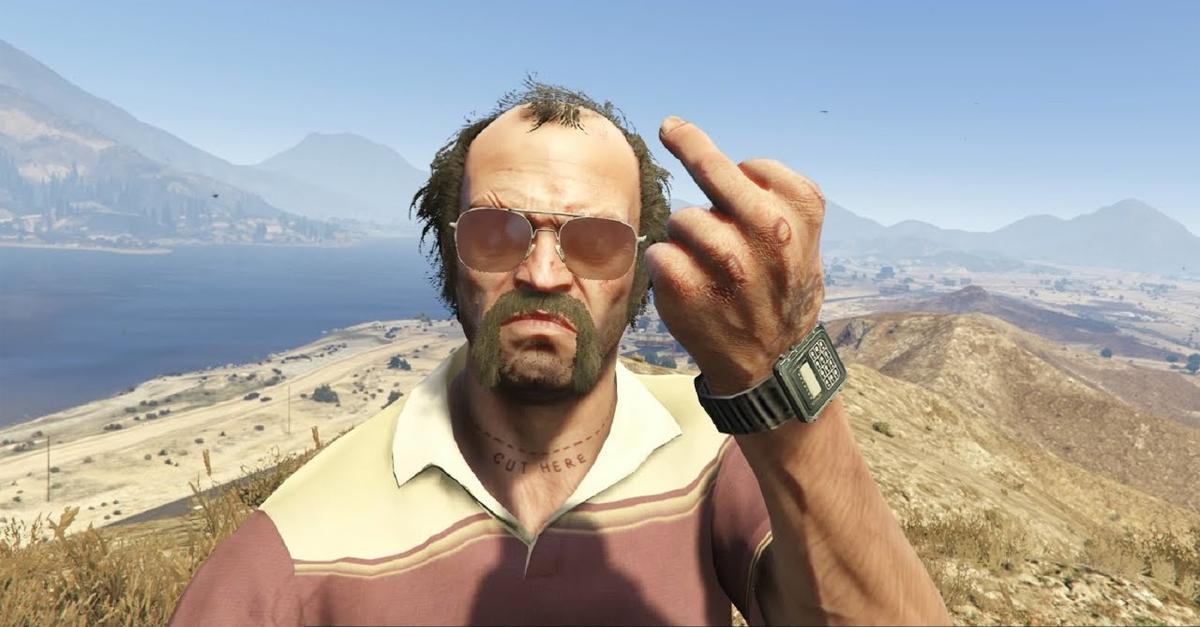 Selfie di Trevor in GTA V