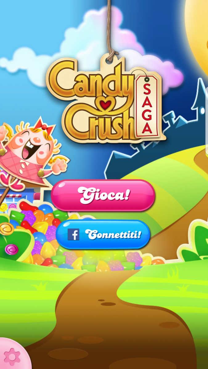 Candy Crush Saga title screen