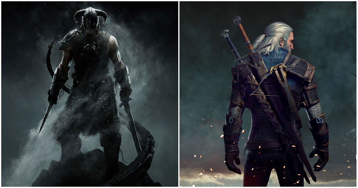 witcher arriva in skyrim