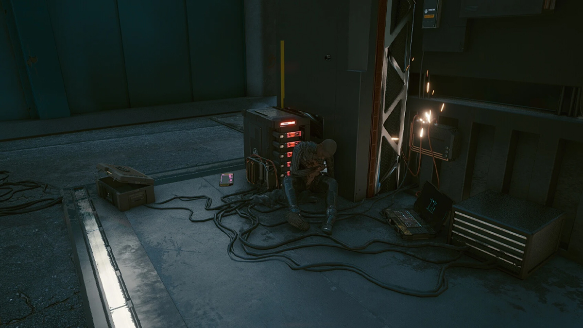 Netrunner esausto in cyberpunk 2077