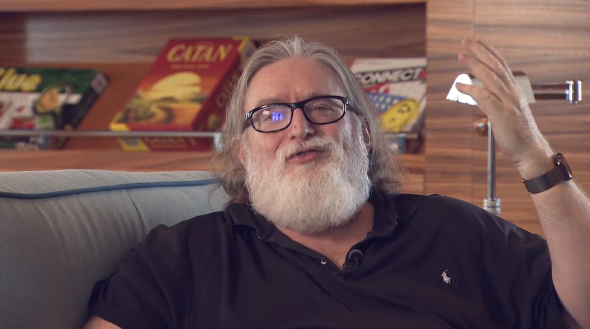 Gabe Newell, capo di Valve, intervistato da 1 News in Nuova Zelanda