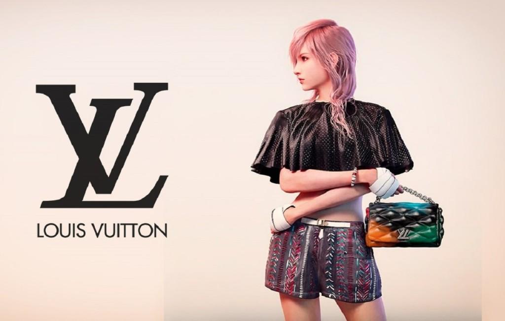 Lightning modella virtuale per il marchio Luois Vitton.
