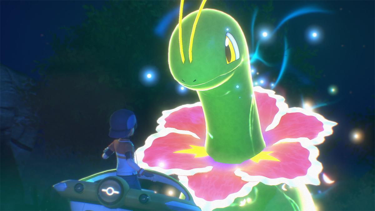New Pokémon Snap: allenatore sulla navicella NEO-UNO incontra Meganium