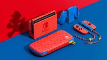 Nintendo Switch Mario colori