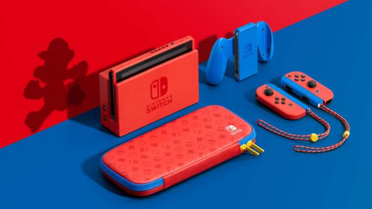 Nintendo Switch Mario colori