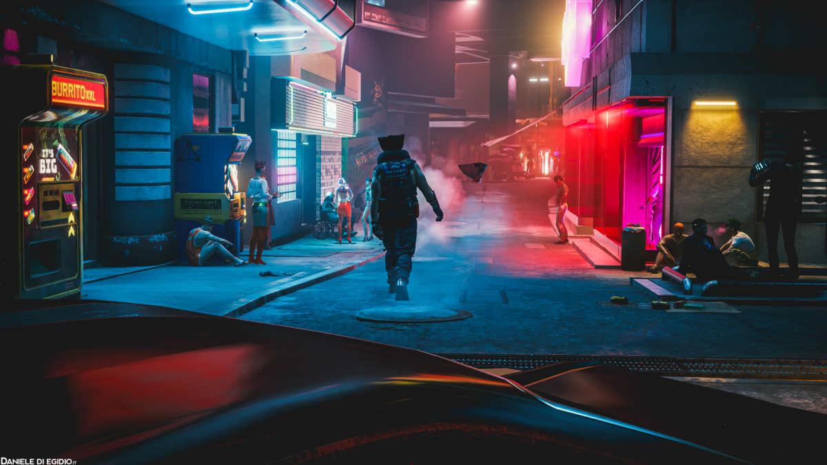 BOB mentre cammina come un figo in Night City