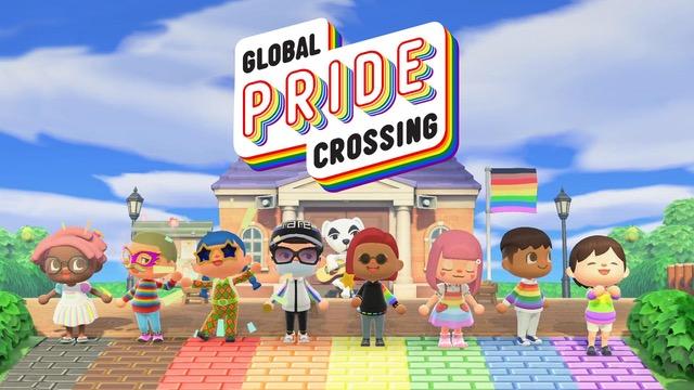 Pride organizzato all'interno di Animal Crossing.