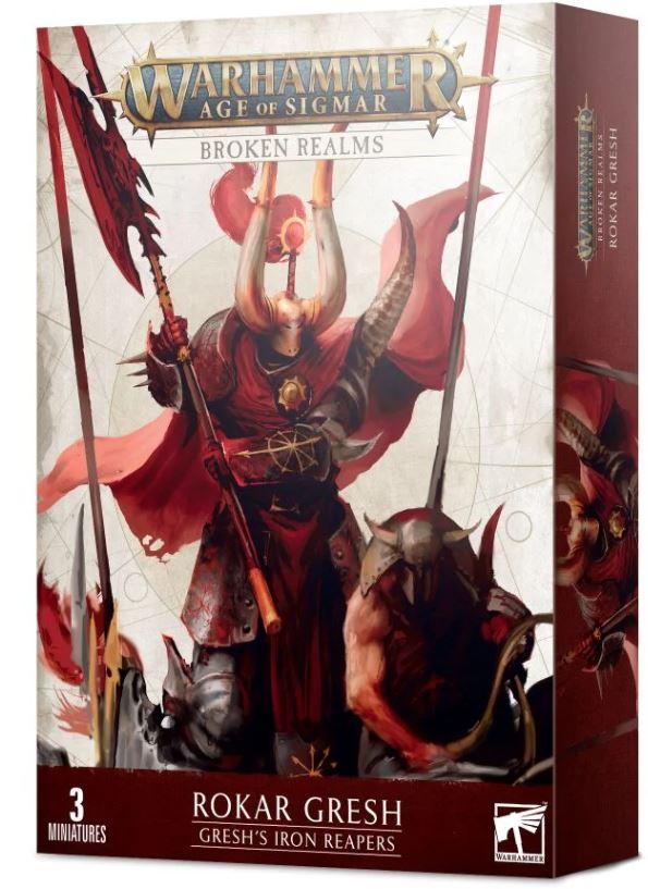 Scatola di Rokar Gresh per Warhammer Age of Sigmar Broken Realms