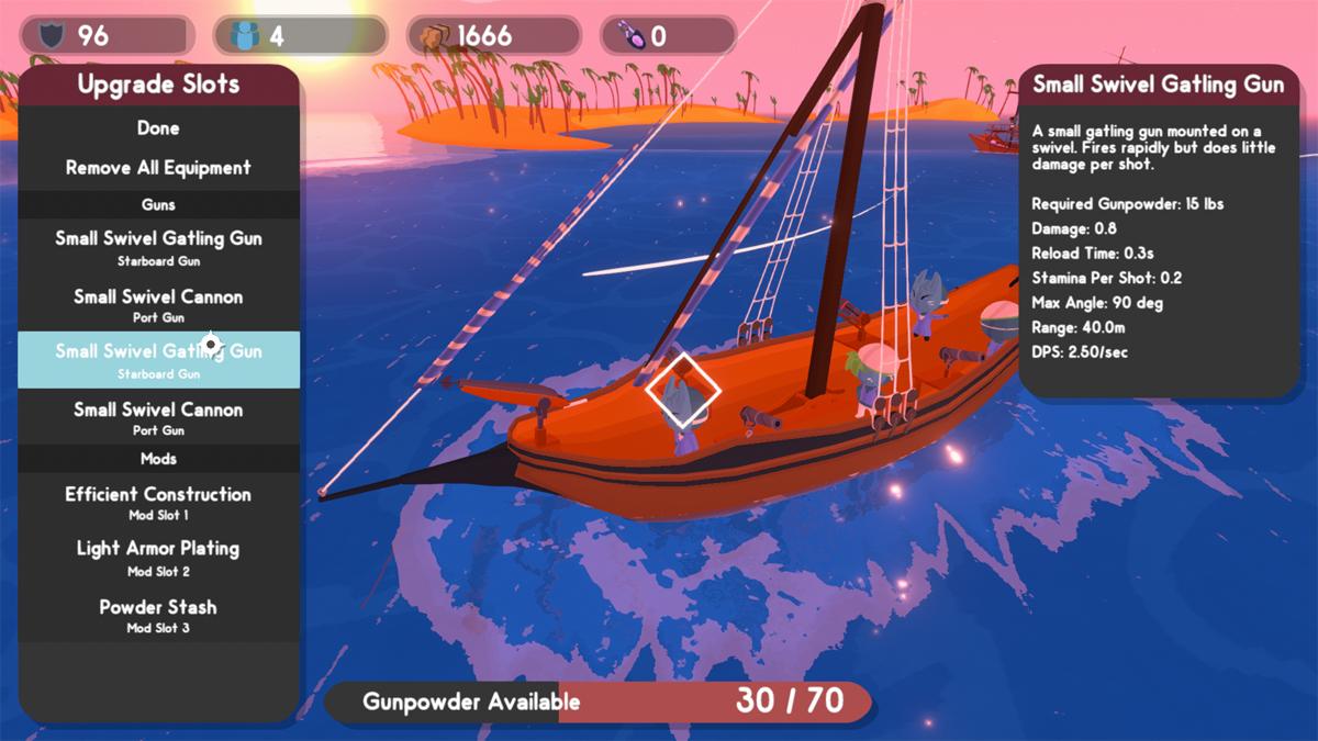 Personalizzazione della nave in Sail Forth