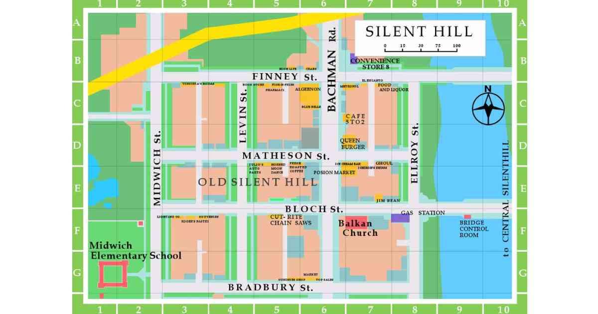 Silent Hill, Silent Hill mappa, mappa di Silent Hill