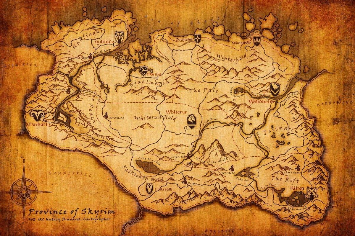 mappa di Skyrim