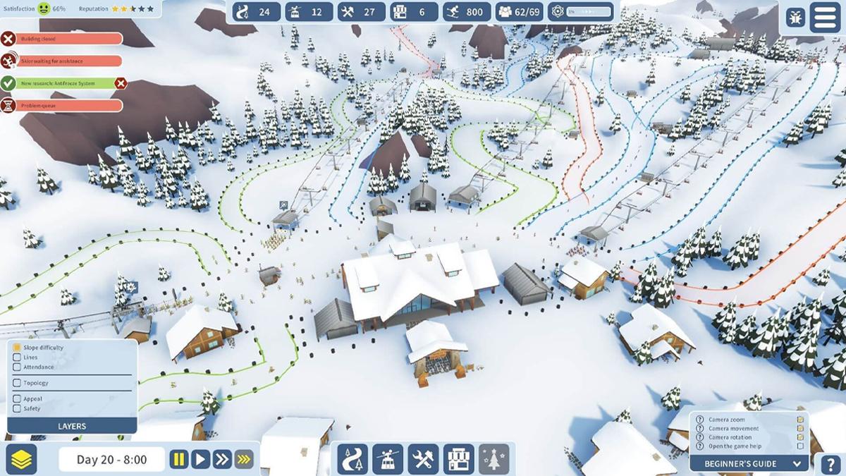 Una partita in accesso anticipato di Snowtopia