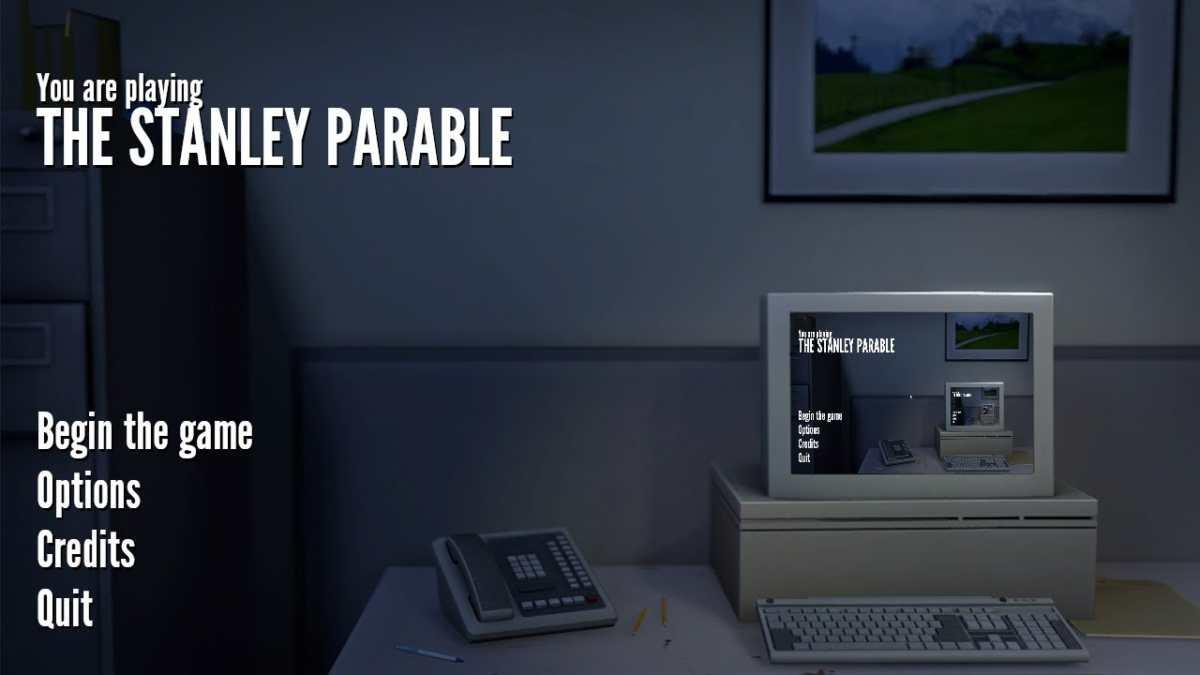 The Stanley Parable, schermata del titolo.