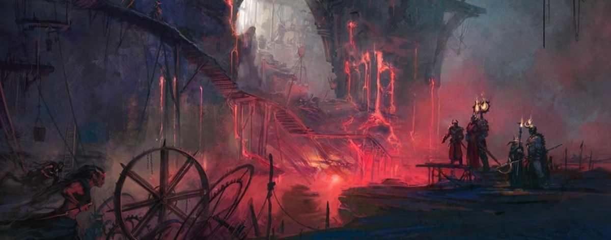artwork delle fauci di varanthax da warcry catacombe