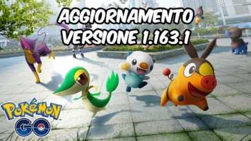 versione 1.163.1 pokemon go aggiornamento