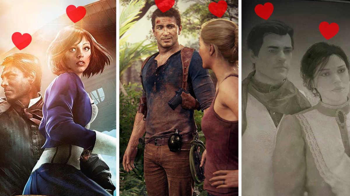 storie d'amore videogiochi, booker ed Elizabeth Bioshock Infinite, Nathan Drake ed Elena Uncharted, Arthur Morgan Mary Linton Red Dead Redemption II