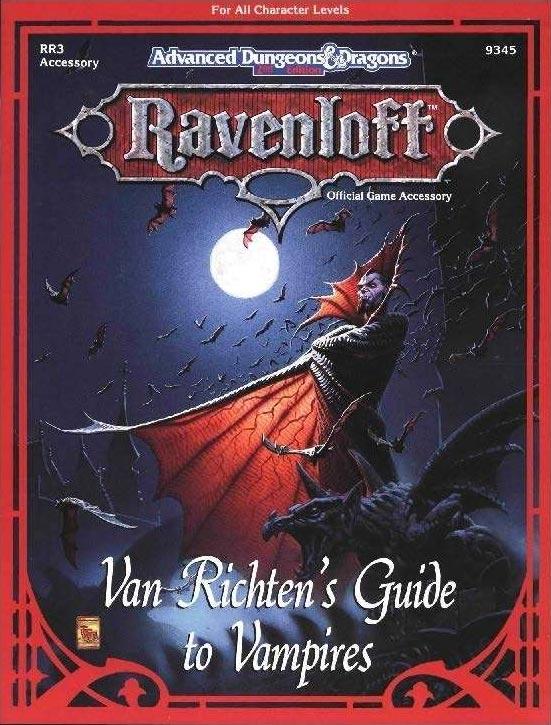 Copertina del supplemento Van Richten's Guide to Vampires