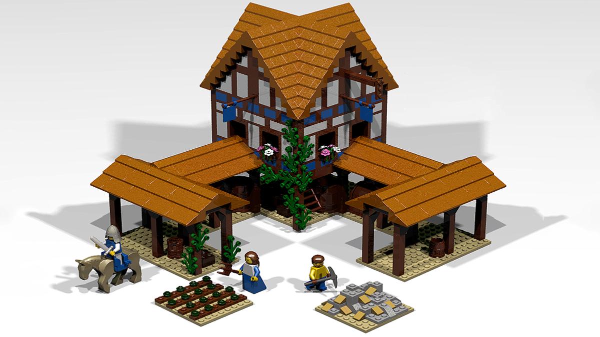 Centro città di Age of Empires 2 formato LEGO