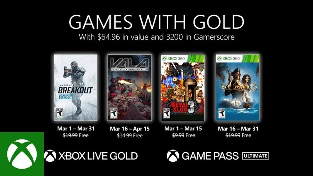 games with gold xbox marzo 2021