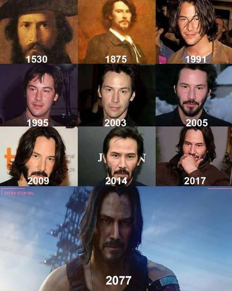 Keanu Reeves nel corso degli anni