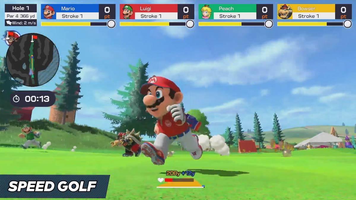 Modalità Speed Golf di Mario Golf: Super Rush