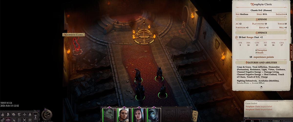 Pathfinder: Wrath of the Righteos, esplorazione di un dungeon