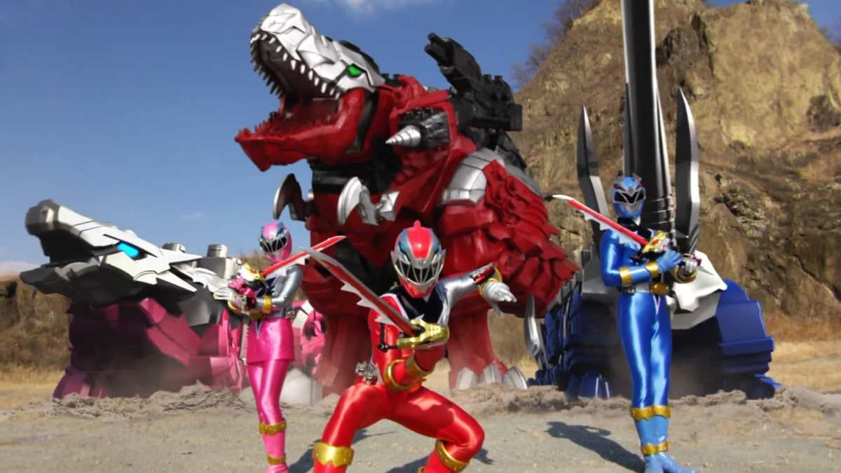 Power Rangers Dino Fury i rangers e i Dinozords