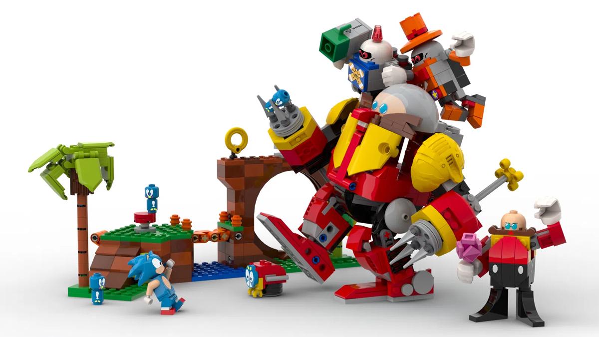 Figure e mattoncini del set LEGO di Sonic