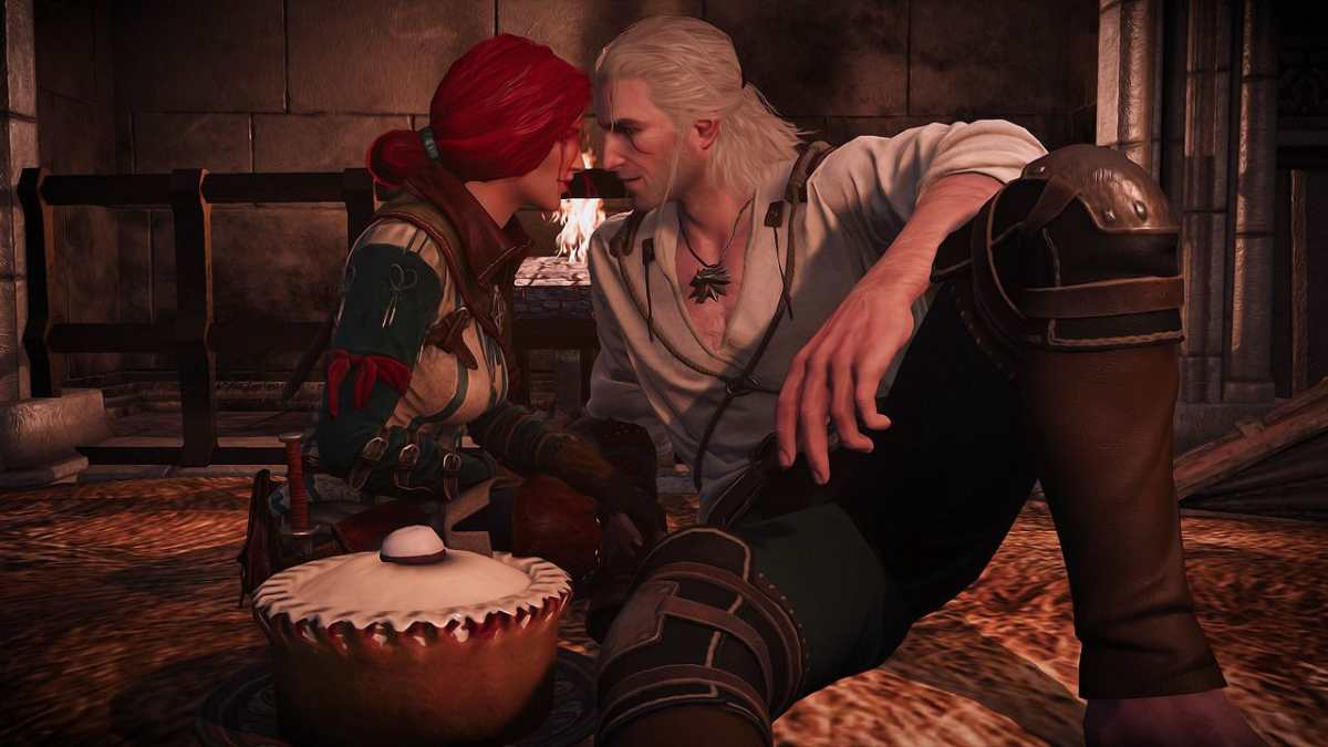the witcher 3 triss and geralt