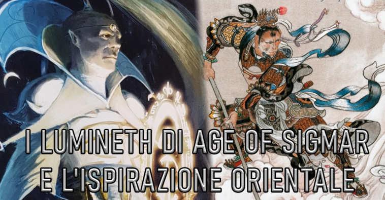 Copertina sui Lumineth di Age of Sigmar e l'ispirazione orientale
